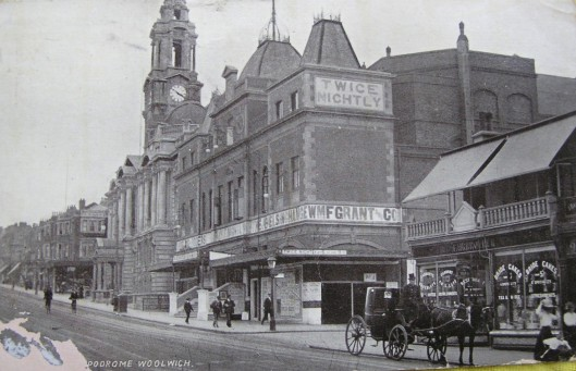 Woolwich Hippodrome and nascent cinema Wellington Street